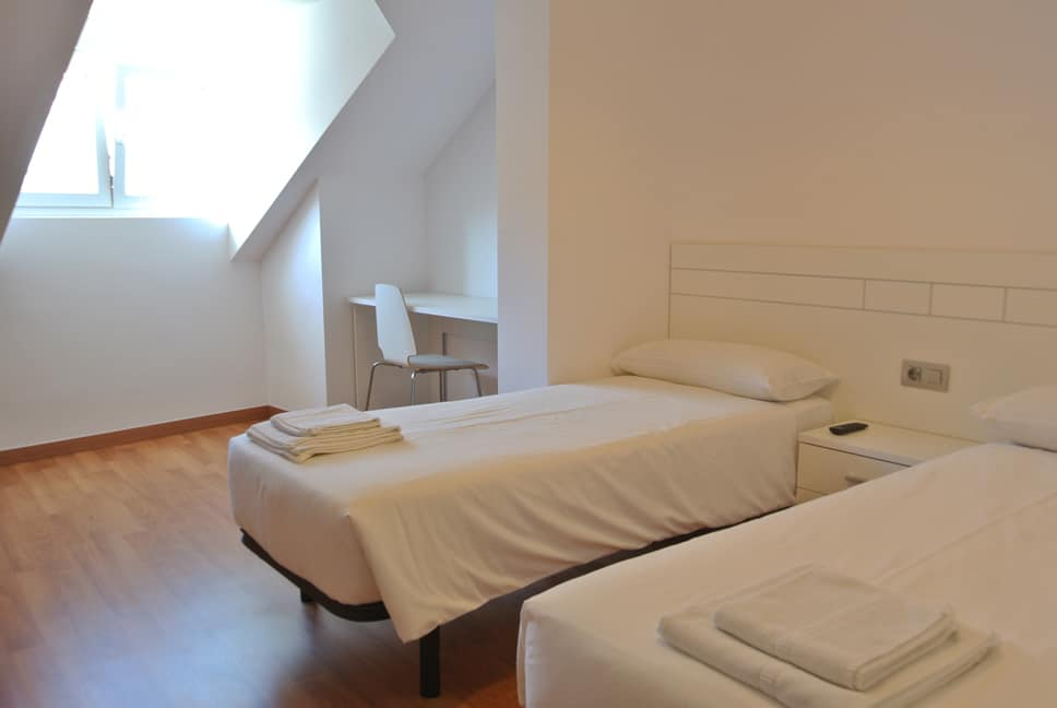 Habitación familiar en hotel de Fisterra